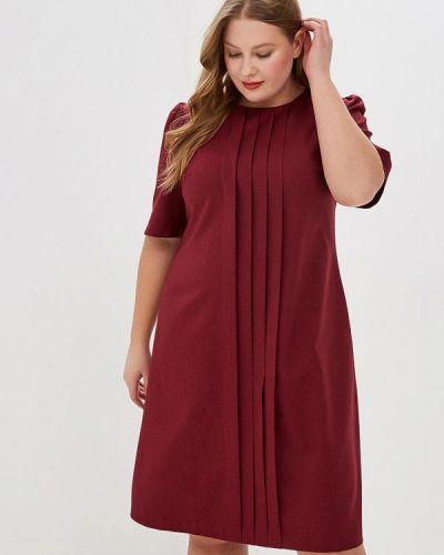 Повседневное платье бордовый красный Borboleta