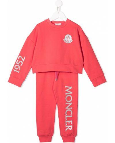 Купальник с принтом красный Moncler Kids