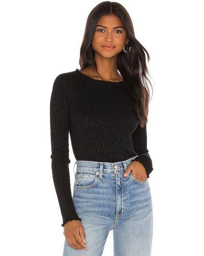 Облегченный черный шерстяной длинный свитер John & Jenn By Line