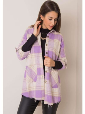 Fioletowa koszula bawełniana Fashionhunters