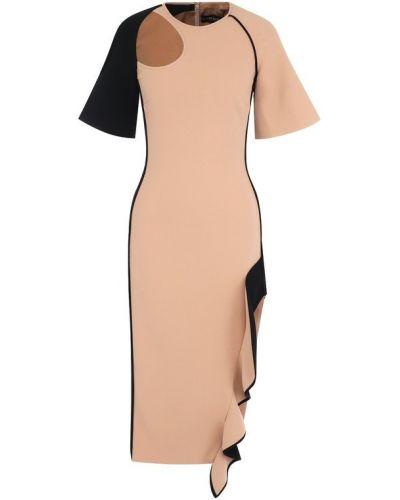 Платье с высоким разрезом из вискозы David Koma