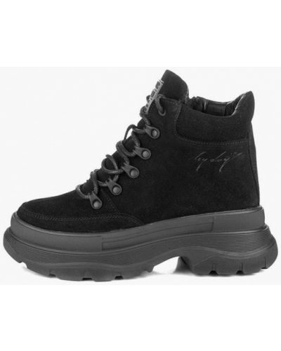Высокие ботинки - черные My Day