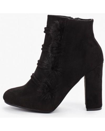 Туфли на каблуке черные круглым носом Ws Shoes
