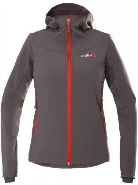 Нейлоновая куртка с капюшоном на молнии мятная с манжетами Red Fox