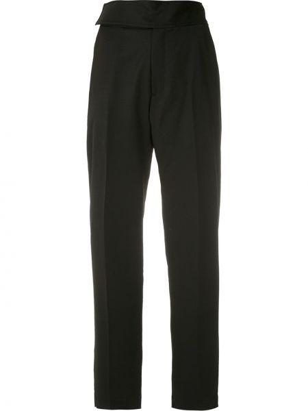 Черные прямые брюки с поясом с высокой посадкой Reinaldo Lourenço