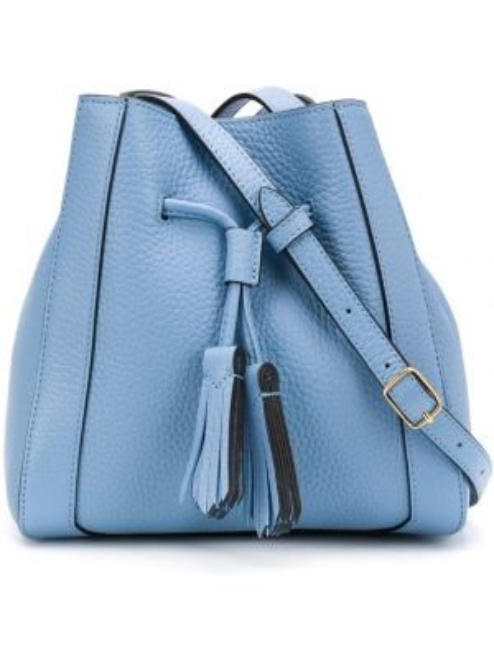 Niebieska torebka mini skórzana Mulberry