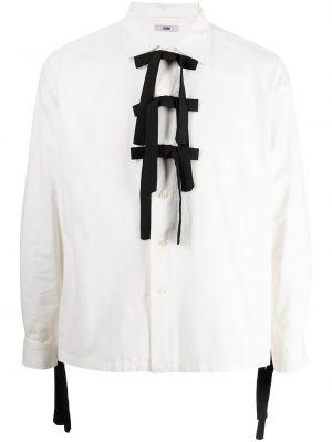 Biała biała koszula z długimi rękawami Bode