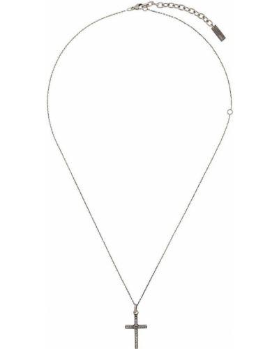 Ожерелье черный серебряный Saint Laurent