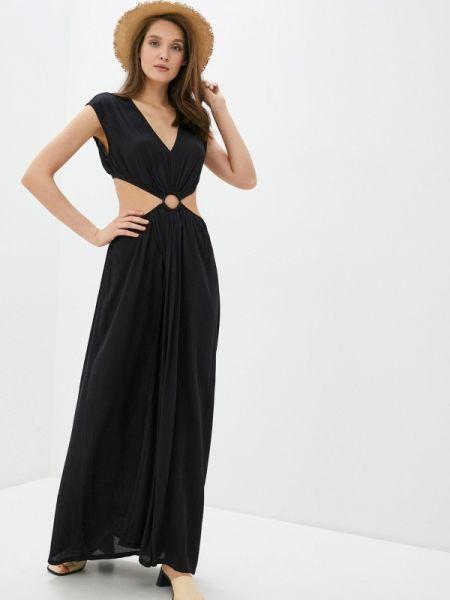 Пляжное черное пляжное платье Calzedonia