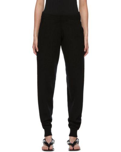 Кашемировые черные брюки с манжетами с карманами Frenckenberger