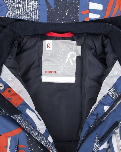 Зимняя куртка с капюшоном на кнопках Reima
