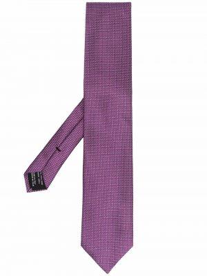 Krawat z printem - fioletowy Tom Ford