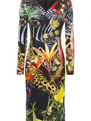 Шелковое платье - черное Roberto Cavalli