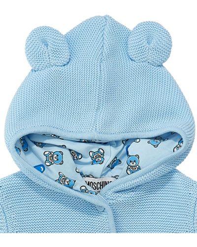 Niebieski kardigan bawełniany Moschino