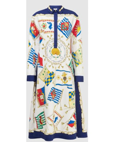 Платье миди с принтом - бежевое Etro