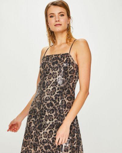 Платье мини трикотажное с пайетками Answear