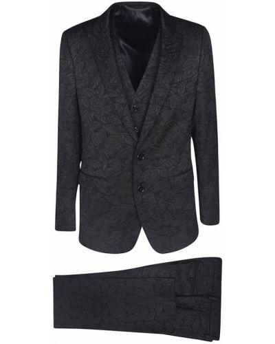 Garnitur elegancki - czarny Dolce And Gabbana