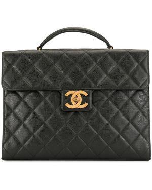 Teczka skórzany czarny Chanel Pre-owned