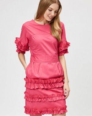 Платье розовое прямое D'she