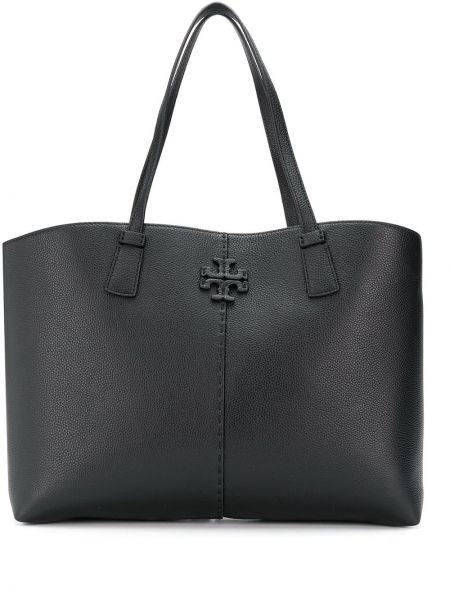 Skórzana torebka na ramię czarna Tory Burch