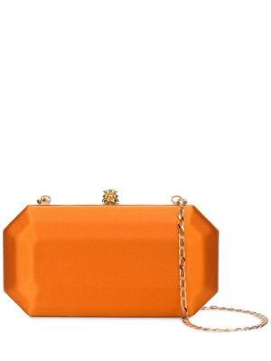 Кожаная оранжевая кожаная сумка с подкладкой Tyler Ellis