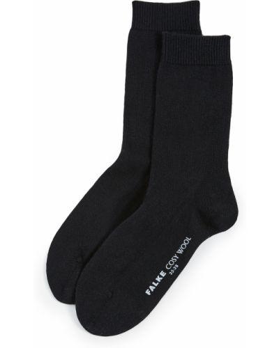Черные шерстяные носки Falke