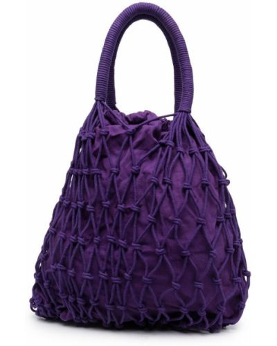 Хлопковая фиолетовая сумка шоппер круглая P.a.r.o.s.h.