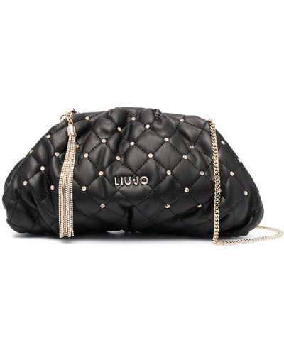 С ремешком черный сумка на цепочке из натуральной кожи Liu Jo