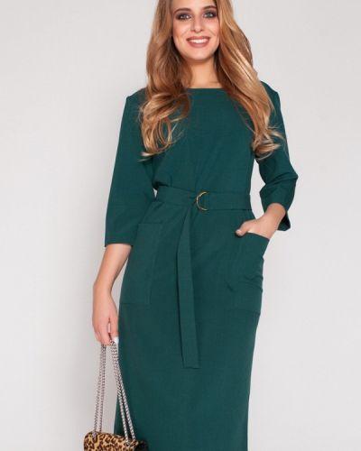 Зеленое коктейльное платье Eliseeva Olesya