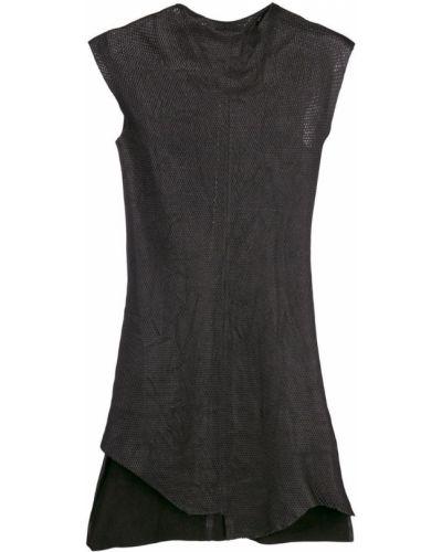 Приталенное асимметричное кожаное платье Olsthoorn Vanderwilt