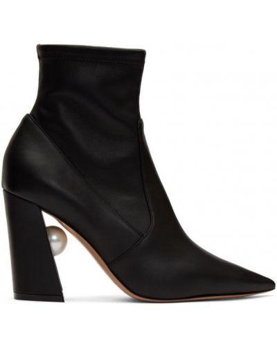 Сапоги на высоком каблуке сапоги-чулки черные Nicholas Kirkwood