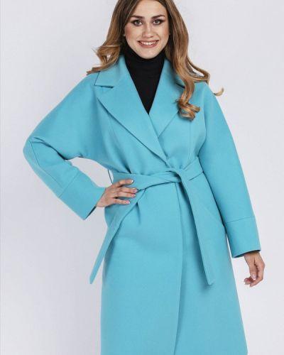 Пальто демисезонное бирюзовый симпатика