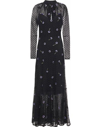Платье макси с вышивкой - черное Markus Lupfer