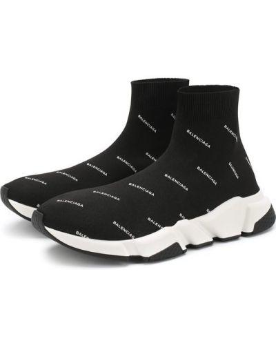 Черные кроссовки резиновые Balenciaga