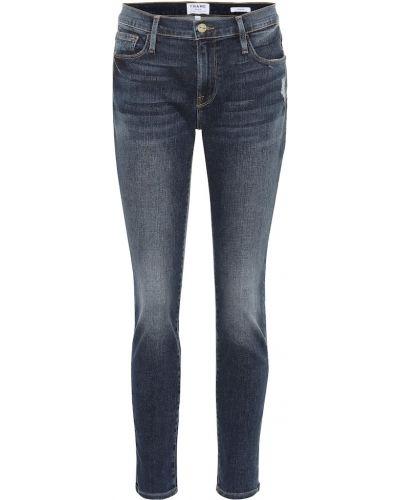 Теплые укороченные джинсы в стиле бохо Frame