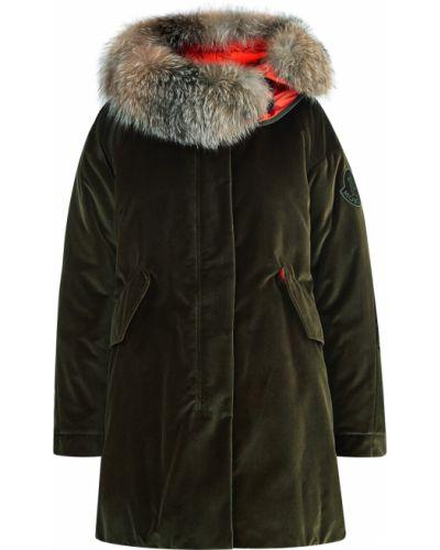 Куртка с капюшоном бархатная оверсайз Moncler
