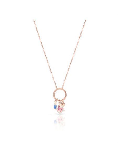 Złoty naszyjnik - różowy W.kruk
