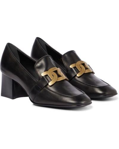 Черные резиновые туфли Tods