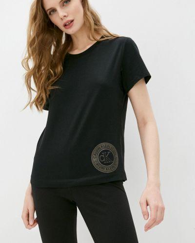 Домашняя черная футболка Calvin Klein Underwear