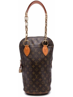 Коричневая косметичка золотистая Louis Vuitton