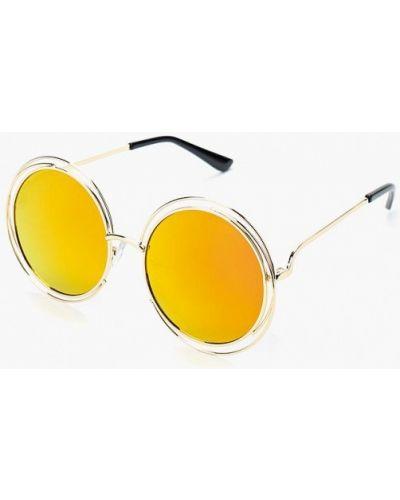 Солнцезащитные очки золотого цвета Vitacci