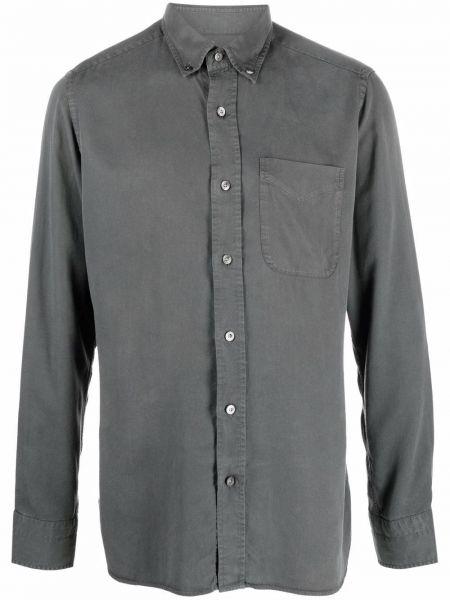 Серая рубашка на пуговицах Tom Ford
