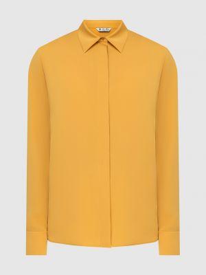 Желтая шелковая блузка Loro Piana