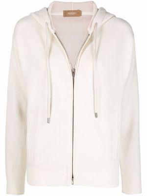 Biała bluza z kapturem Agnona