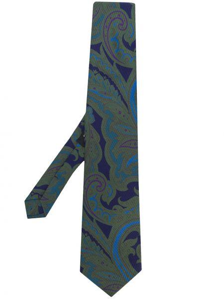 Krawat z printem - niebieski Etro