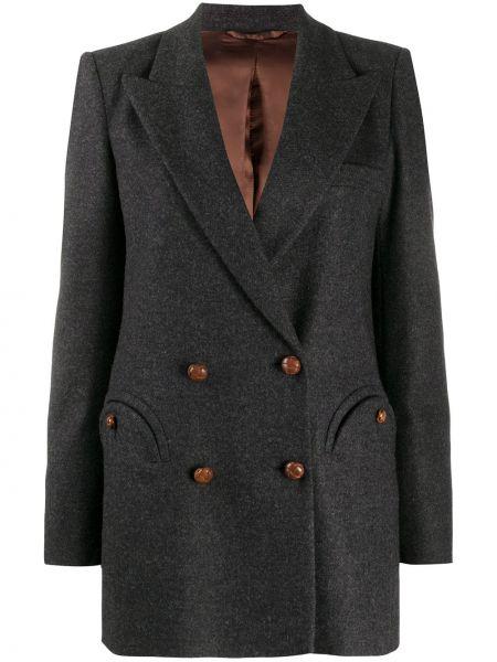 Сатиновый повседневный пиджак с карманами двубортный Blazé Milano