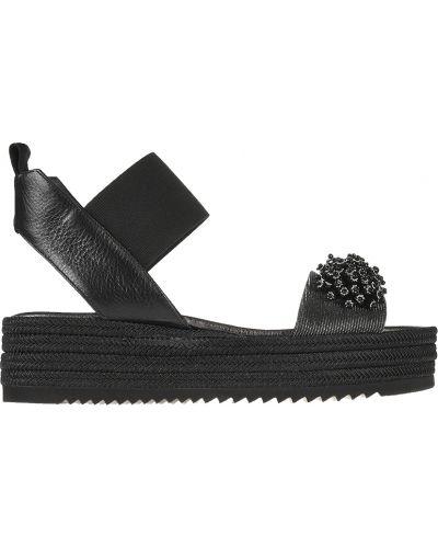 Кожаные босоножки - черные Pertini