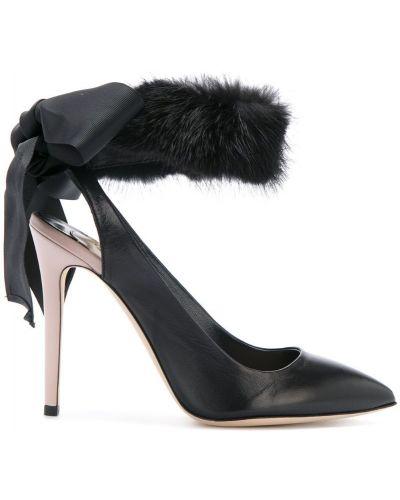 Черные туфли-лодочки с открытой пяткой Olgana