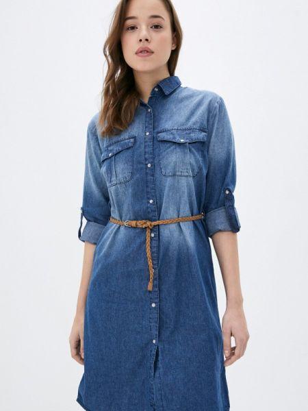 Джинсовое платье - синее Sublevel