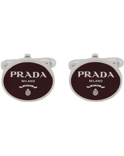 Запонки красный Prada